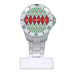 Rhombus And Chevrons Pattern			nurses Watch by LalyLauraFLM