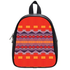 Rhombus Rectangles And Triangles			school Bag (small) by LalyLauraFLM