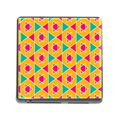 Colorful Stars Pattern			memory Card Reader (square) by LalyLauraFLM