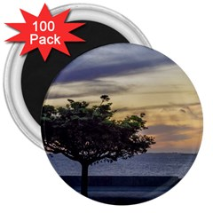 Sunset Scene At Boardwalk In Montevideo Uruguay 3  Magnets (100 Pack) by dflcprints