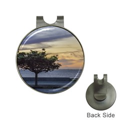 Sunset Scene At Boardwalk In Montevideo Uruguay Hat Clips With Golf Markers by dflcprints