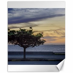 Sunset Scene At Boardwalk In Montevideo Uruguay Canvas 16  X 20   by dflcprints