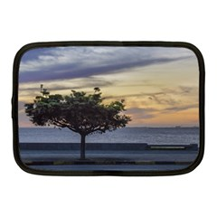 Sunset Scene At Boardwalk In Montevideo Uruguay Netbook Case (medium)  by dflcprints
