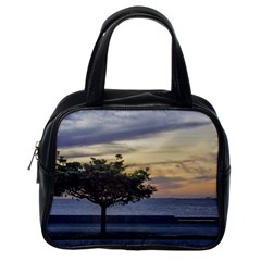 Sunset Scene At Boardwalk In Montevideo Uruguay Classic Handbags (one Side) by dflcprints