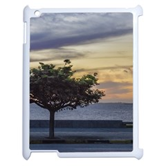 Sunset Scene At Boardwalk In Montevideo Uruguay Apple Ipad 2 Case (white) by dflcprints