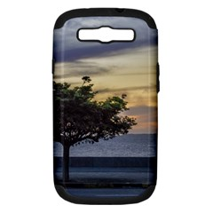 Sunset Scene At Boardwalk In Montevideo Uruguay Samsung Galaxy S Iii Hardshell Case (pc+silicone) by dflcprints