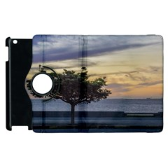 Sunset Scene At Boardwalk In Montevideo Uruguay Apple Ipad 3/4 Flip 360 Case by dflcprints