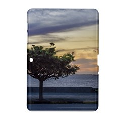 Sunset Scene At Boardwalk In Montevideo Uruguay Samsung Galaxy Tab 2 (10 1 ) P5100 Hardshell Case  by dflcprints