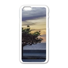 Sunset Scene At Boardwalk In Montevideo Uruguay Apple Iphone 6/6s White Enamel Case by dflcprints