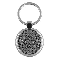 Luxury Patterned Modern Baroque Key Chains (round)  by dflcprints