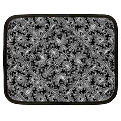 Luxury Patterned Modern Baroque Netbook Case (large) by dflcprints