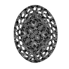 Luxury Patterned Modern Baroque Oval Filigree Ornament (2 Side)  by dflcprints