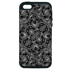 Luxury Patterned Modern Baroque Apple Iphone 5 Hardshell Case (pc+silicone) by dflcprints