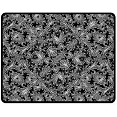 Luxury Patterned Modern Baroque Double Sided Fleece Blanket (medium)  by dflcprints