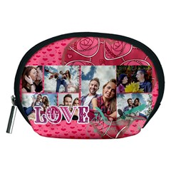 Love By Love   Accessory Pouch (medium)   4l0chofa0yhl   Www Artscow Com Front