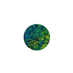 Flowers Abstract Yellow Green 1  Mini Magnets by Costasonlineshop