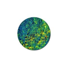 Flowers Abstract Yellow Green Golf Ball Marker (4 Pack)