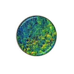 Flowers Abstract Yellow Green Hat Clip Ball Marker