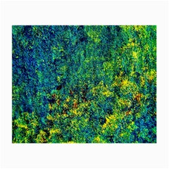 Flowers Abstract Yellow Green Small Glasses Cloth