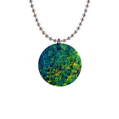 Flowers Abstract Yellow Green Button Necklaces by Costasonlineshop