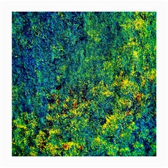 Flowers Abstract Yellow Green Medium Glasses Cloth (2 Side) by Costasonlineshop