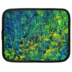 Flowers Abstract Yellow Green Netbook Case (large)