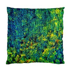 Flowers Abstract Yellow Green Standard Cushion Case (one Side)