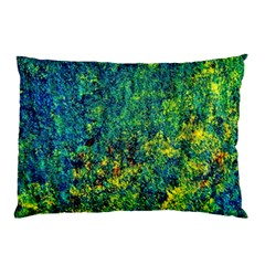 Flowers Abstract Yellow Green Pillow Cases by Costasonlineshop