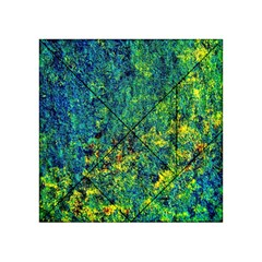 Flowers Abstract Yellow Green Acrylic Tangram Puzzle (4  X 4 )