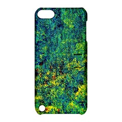 Flowers Abstract Yellow Green Apple Ipod Touch 5 Hardshell Case With Stand by Costasonlineshop