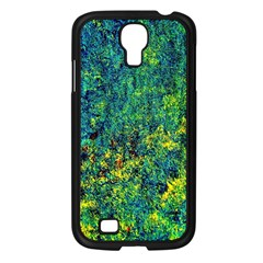 Flowers Abstract Yellow Green Samsung Galaxy S4 I9500/ I9505 Case (black) by Costasonlineshop
