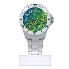 Flowers Abstract Yellow Green Nurses Watches by Costasonlineshop