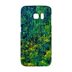 Flowers Abstract Yellow Green Galaxy S6 Edge by Costasonlineshop