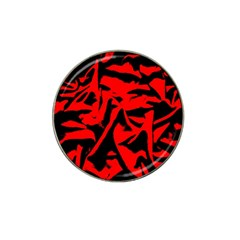 Red Black Retro Pattern Hat Clip Ball Marker