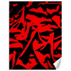 Red Black Retro Pattern Canvas 18  X 24   by Costasonlineshop