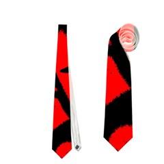 Red Black Retro Pattern Neckties (one Side)