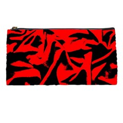 Red Black Retro Pattern Pencil Cases by Costasonlineshop