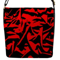 Red Black Retro Pattern Flap Messenger Bag (s)