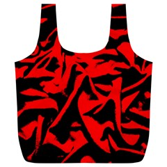 Red Black Retro Pattern Full Print Recycle Bags (l)