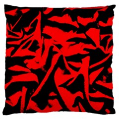 Red Black Retro Pattern Large Flano Cushion Cases (one Side)  by Costasonlineshop