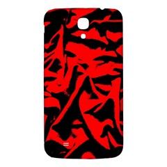 Red Black Retro Pattern Samsung Galaxy Mega I9200 Hardshell Back Case by Costasonlineshop