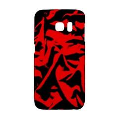 Red Black Retro Pattern Galaxy S6 Edge