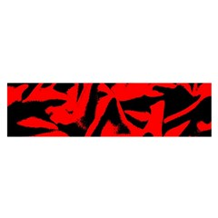 Red Black Retro Pattern Satin Scarf (oblong)