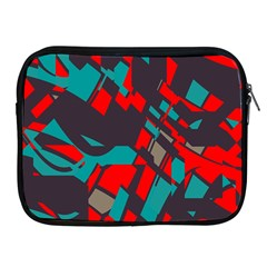 Red Blue Pieces			apple Ipad 2/3/4 Zipper Case by LalyLauraFLM