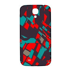 Red Blue Piecessamsung Galaxy S4 I9500/i9505 Hardshell Back Case by LalyLauraFLM