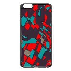 Red Blue Pieces			apple Iphone 6 Plus/6s Plus Black Enamel Case by LalyLauraFLM
