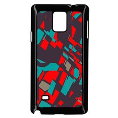 Red Blue Piecessamsung Galaxy Note 4 Case (black) by LalyLauraFLM