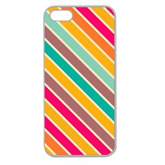 Colorful Diagonal Stripes			apple Seamless Iphone 5 Case (clear) by LalyLauraFLM