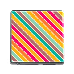 Colorful Diagonal Stripesmemory Card Reader (square) by LalyLauraFLM