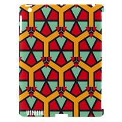Honeycombs Triangles And Other Shapes Pattern			apple Ipad 3/4 Hardshell Case (compatible With Smart Cover) by LalyLauraFLM